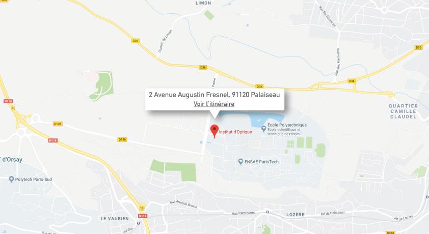 Plan d'accés - Palaiseau